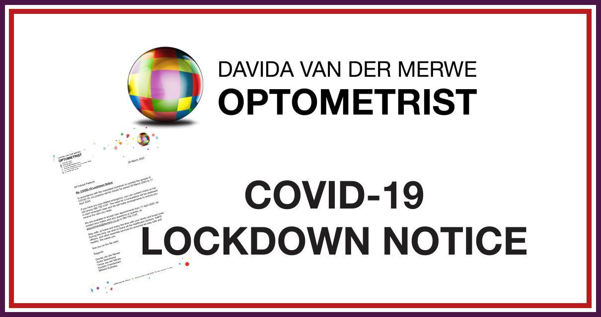 COVID-19 Lockdown Notice